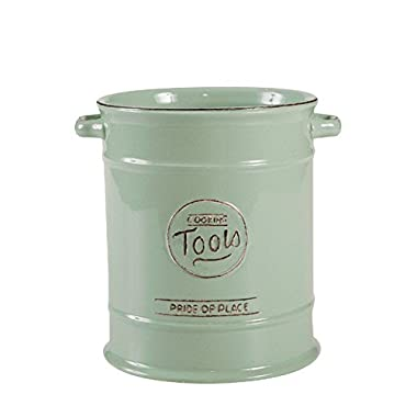 TG Pride of Place Utensil Pot In Old Green 10512 by T&G Woodware