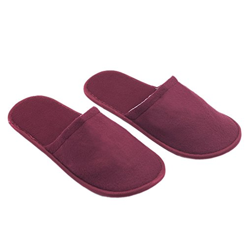 Opromo Unisex Cotton Cloth Hotel Spa Slippers Slip On Indoor House Guest Shoes 20PCS-White vpYadce