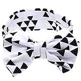 ❤️ Mealeaf ❤️ Baby Printing Bowknot Rabbit Ears Elastic Cloth Headband WH(White,)
