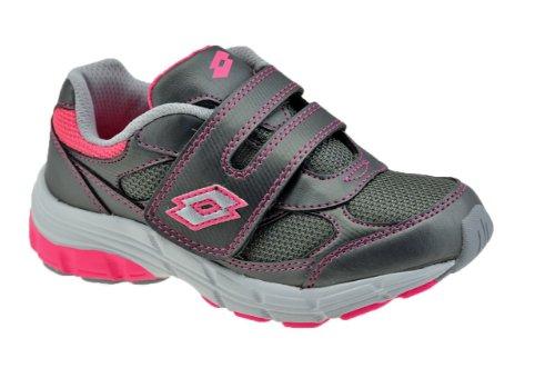 Lotto - Zapatos de cordones para niño Grigio/Fuxia