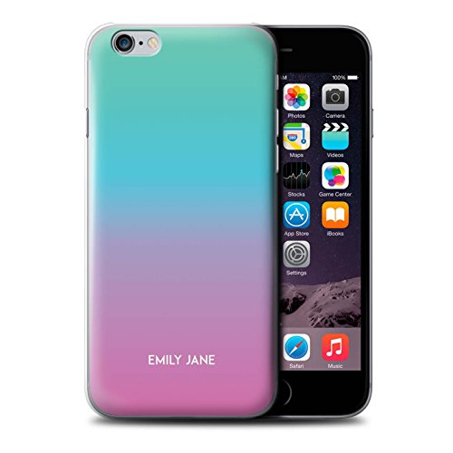 Personalized Custom Ombre Colours Case for Apple iPhone 6/Pink/Blue/Teal Design/Initial/Name/Text DIY - Case Iphone 6 Ombre Color
