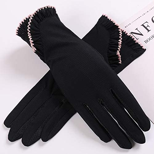 Women Sun Protection Gloves Summer Driving Touch Screen Lace Gloves Anti UV