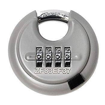 Image of Combination Padlocks DaVinci Disc Lock - Gray 10 Pack