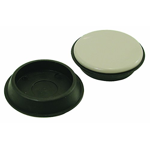 Shepherd Hardware 9221 1-3/4-Inch Reusable, Round, Slide Glide Furniture Cups, 4-Pack (Carpet Base Cup)