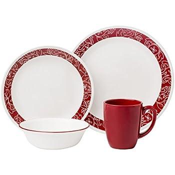 Amazon.com   Corelle Livingware 16-Piece Dinnerware Set, Service for ...