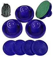 Air Hockey Accessories 4 Pusher and 4 Pucks Suit for 6-ft Game Table