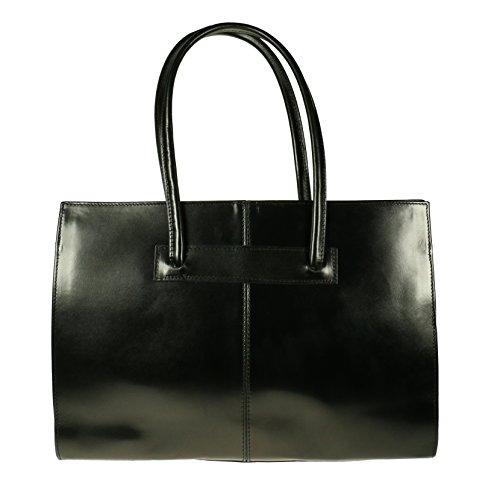 Vera Pelle , Damen Tote-Tasche schwarz L schwarz