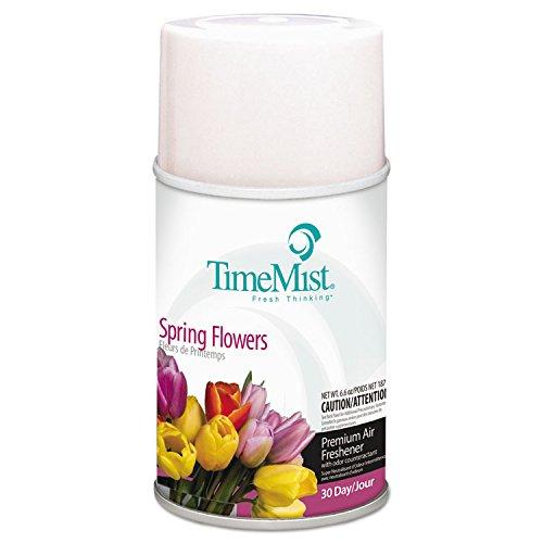 TimeMist 1042712 Air Freshener Dispenser Refill, Spring Flowers, 5.3 oz, Aerosol (Case of (Timemist Aerosol)