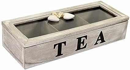 Caja para guardar tés, tisanas, infusiones, café, estilo shabby ...