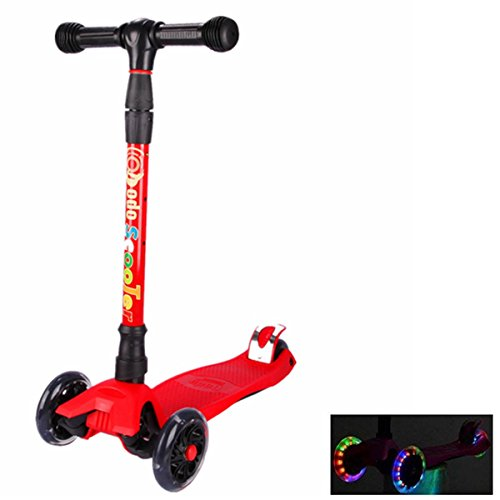 E EVERKING Toddler Kick Scooter for Kids Boys Girls, 3 Wheel Scooter, 4 Adjustable Height, Lean to Steer with PU Flashing Light Up Wheels for Children from 3 to 10 Years Old Outdoor Gift by E EVERKING