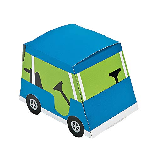 Fun Express - Golf PaR-Tee Favor Boxes for Birthday - Party Supplies - Containers & Boxes - Paper Boxes - Birthday - 12 Pieces -