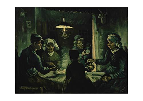 The Eaters Van Vincent Gogh Potato (Spiffing Prints Vincent Van Gogh - The Potato Eaters - Medium - Archival Matte - Framed)