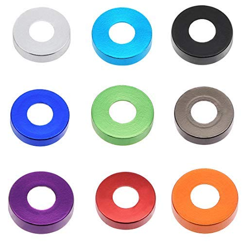 10 Pieces 12 mm x 5 mm x 3.2 mm Green Aluminum countersunk Washer for Screw