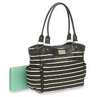 Carter's Zip Fashion Diaper Bag, Front Stripe