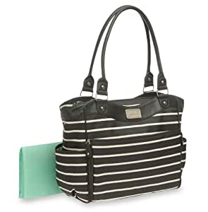 Carter's Zip Fashion Diaper Bag, Front Stripe