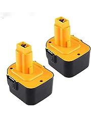 2 Pack 3.0Ah Ni-MH vervanging voor Dewalt 12V Accu DC9071 DE9075 DE9071 DE9074 DW9071 DW9072 DE9501 DE9072 DE9072 Draadloos elektrisch gereedschap