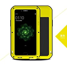 Love Mei Shockproof Waterproof Metal Aluminum Case For OPPO R9s Plus - Yellow