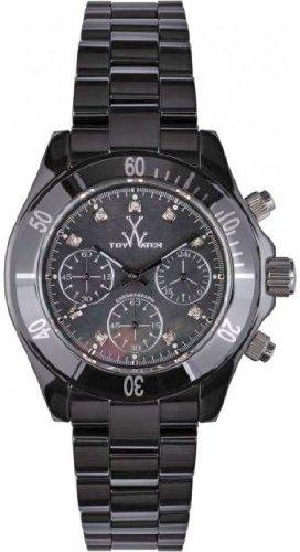 Toy Watch lccs04bk MaviセラミックブラックMopダイヤルクロノグラフLarge ( 41 mm )ダイヤモンド時間マーカーブラックセラミックケース/ブレスレット B00AD6477S