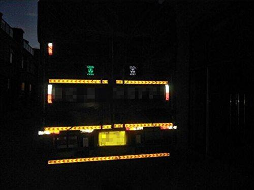 Muchkey Reflektierendes Klebeband Pfeil-Design 5/cm x 3/m gelb + schwarz
