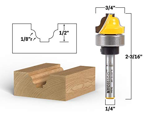 - Yonico 14979q 3/4-Inch Faux Panel Roman Ogee Groove Router Bit 1/4-Inch Shank