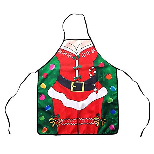 Topclouds Christmas Apron Adults Apron Women Men Party Cooking Apron Kitchen Supplies (Difference Between Keyless And Remote Central Locking)