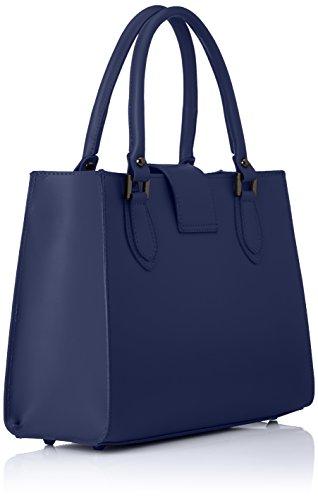 8881 Borse L Borsa Blu Donna X 34x26x13 H A Mano Cm Chicca w blue Aqw5dPA