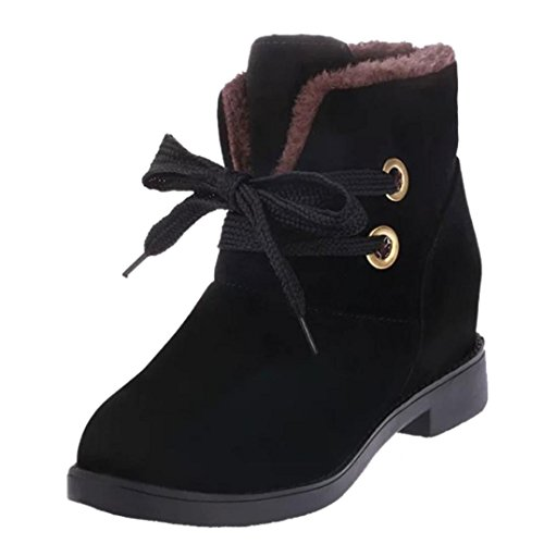 Women's Boots Warm Boots Ankle Warm Winter Up Lace Black Boots MML Winter Shoes HwS6Z6