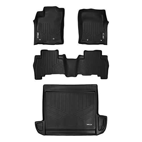 4runner Set Toyota - MAX LINER A0120/B0040/D0208 Floor Mats and Cargo Liner Set Black for 2013-2019 Toyota 4Runner 5 Passenger Model Without Sliding Rear Tray