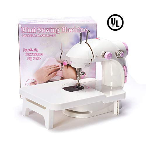 New Mini Sewing Machine with Extension Table - dilib Double Speed Portable Electric Sew Machine with...