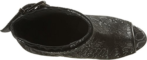 Cavalli Metallic Toe Bootie Womens Just Black Peep dqwEdU