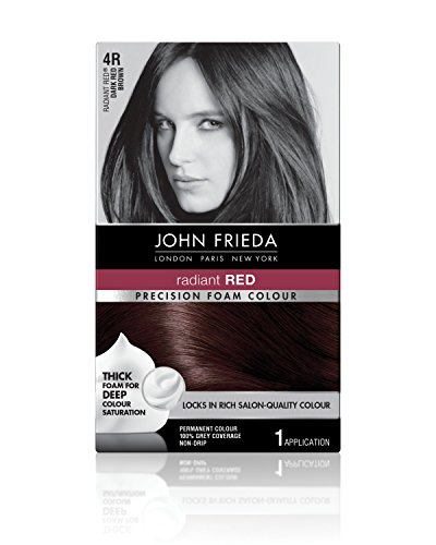 Red Hair Colour - John Frieda Precision Foam Colour, Dark Red Brown 4R