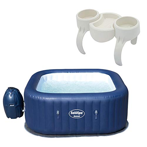 Bestway SaluSpa Hawaii 6 Person Portable Inflatable Spa Hot Tub & Drink Holder