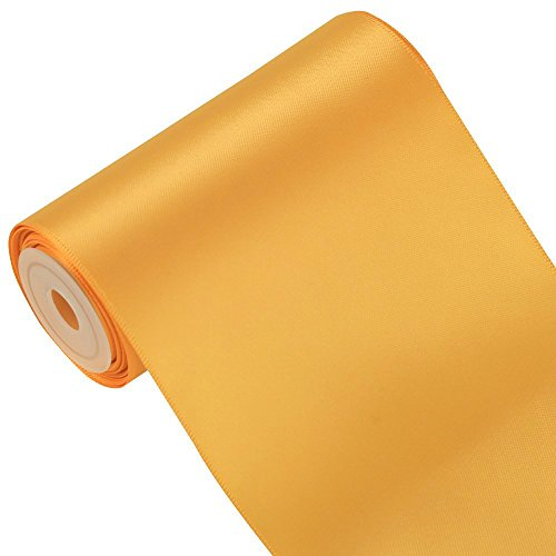 Sash Color Any (LaRibbons 4 inch Wide Solid Color Double Face Satin Ribbon Great for Chair Sash- 5 Yard/Spool (690-Old Gold))