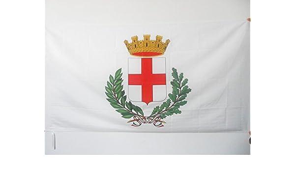 AZ FLAG Bandera de la Ciudad DE MIL/ÁN 90x60cm para Palo Bandera DE Milano 60 x 90 cm