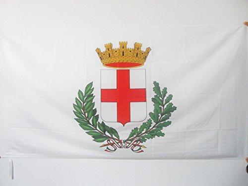Bandiera MILANESE 90 x 150 cm Foro per Asta AZ FLAG Bandiera Citt/à di Milano con Stemma 150x90cm