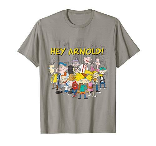 Hangout T-shirt - Nickelodeon Hey Arnold Cast Hangout T-Shirt