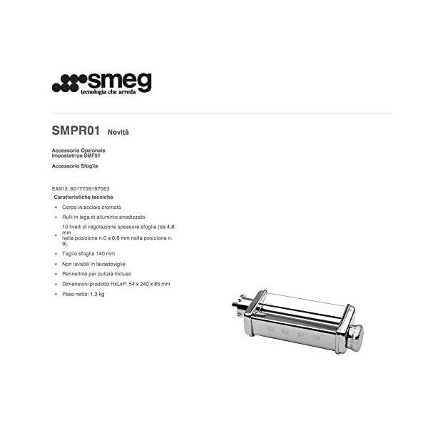 Smeg SMPR01 Pasta Roller, Silver 6