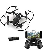 HELIFAR H1 Drone con Telecamera, Mini Drone con WiFi FPV HD 720P App, Drone Plegable con ángulo de cámara Ajustable,Tiempo de Vuelo con 12 Minutos, Una Batteria