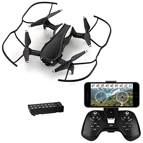 HELIFAR H1 Drone with Camera, Mini Drone with WiFi FPV HD 720P App, Folding Drone with Adjustable Camera Angle, Flight Time with 12 Minutes