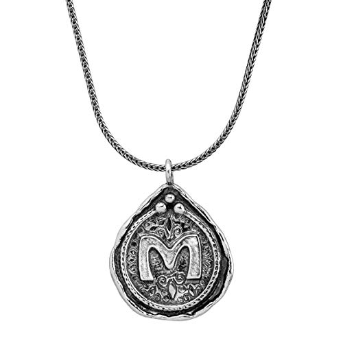 Silpada Namesake Collection 'M' Initial Pendant Necklace in Sterling - Pendant Style Initial Tiffany