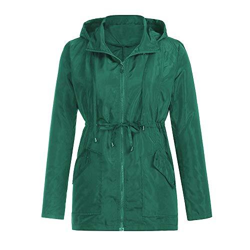 Veste Automne air Nouveau Hiver Manteau YEBIRAL Unie de avec Poche Couleur en de Plein Cordon et Serrage Femmes Pluie ERSSaq8