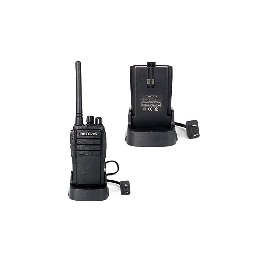 Retevis RT21 Two Way Radio Rechargeable 2 Way Radio UHF FRS 16 CH VOX Scrambler Squelch Security Walkie Talkies(10 Pack)and 2 Pin Covert Air Acoustic Earpiece(10 Pack)
