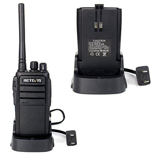 Retevis RT21 Two Way Radio Rechargeable UHF 400 480MHz 16 CH VOX Scrambler Squelch Security Walkie Talkies(10 Pack)and 2 Pin Covert Air Acoustic Earpiece(10 Pack)