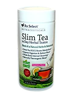 Rx Select 14 Day Herbal Teatox, Slim Tea Raspberry Flavor by Windmill