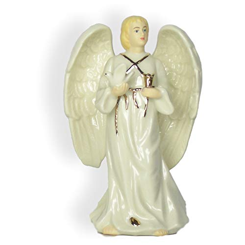 (BANBERRY DESIGNS Memorial Male Bereavement Angel - Porcelain Male Angel Figurine - Condolence Remembrance )