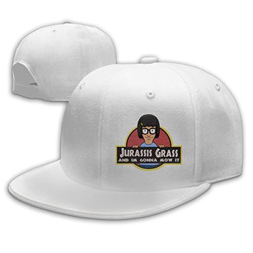 Ooiilpe Men&Women Baseball Hat Jurassis Grass Baseball Cap White