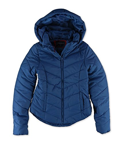 Aeropostale Womens Hooded Puffer Jacket 509 XS - Juniors (Aeropostale Puffer Jacket)