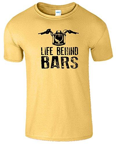 """SNS Online Gänseblümchen / Schwarz Design - S - Brustumfang : 34"""" - 36"""" - Life Behind Bars Frauen Der Männer Damen Unisex T Shirt"""
