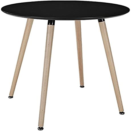 ARIEL DSW Black Round Dining Table