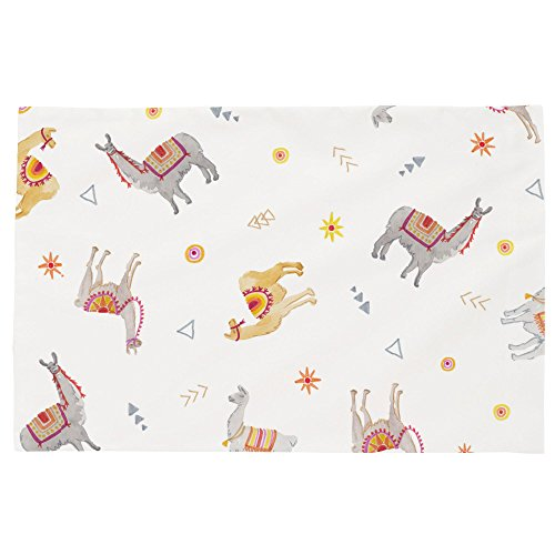 Carousel Designs Festive Llamas Toddler Bed Pillow Case by Carousel Designs